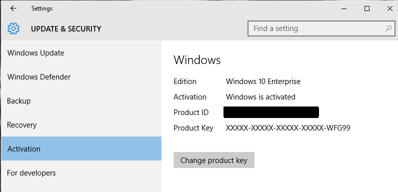 office activation key windows 10