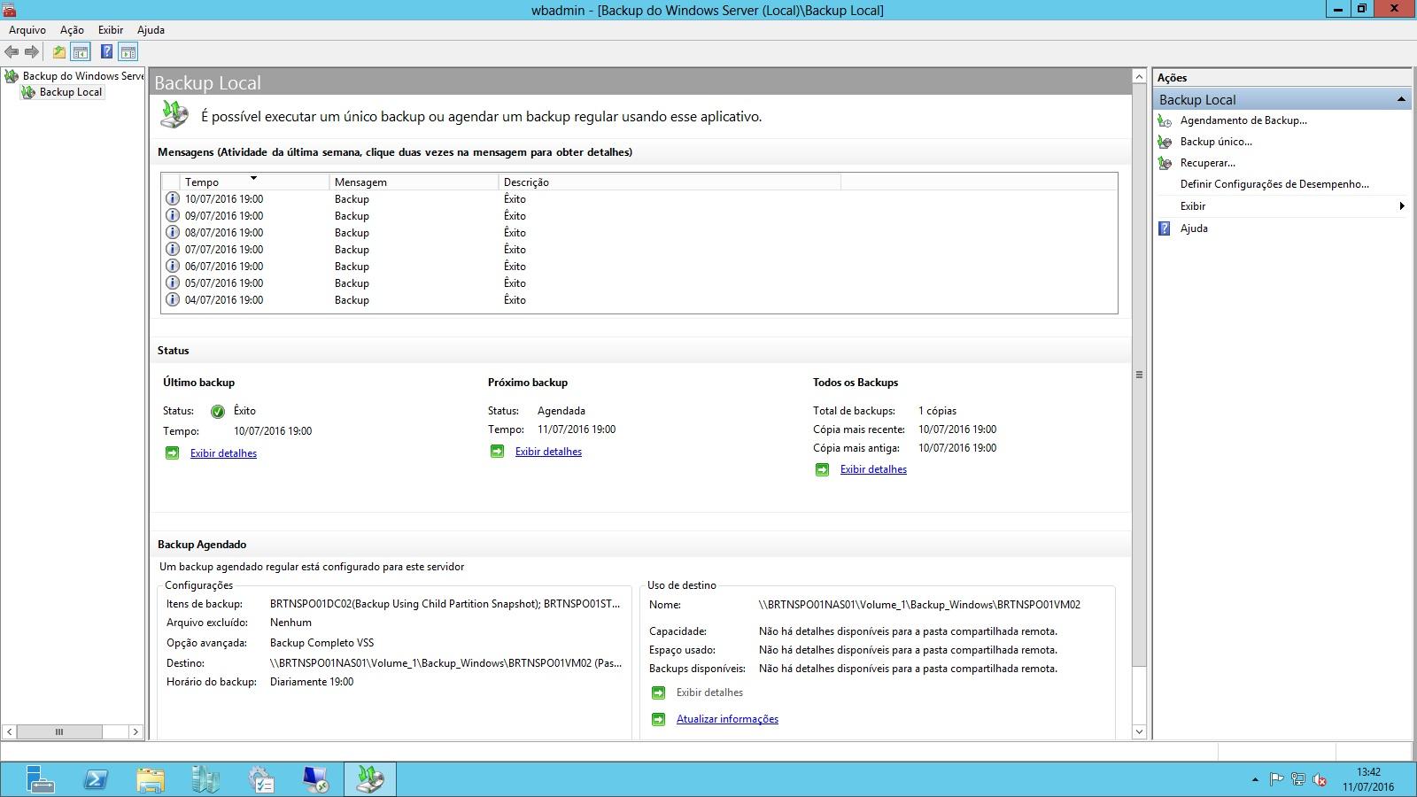 Backup Windows server