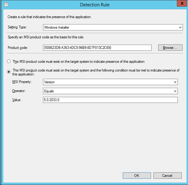 SCCM 2012 Deploying a MSI and MSP file together