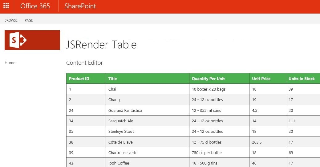 Add default css theme to a table within a Content Editor Web Part