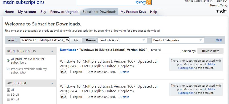 microsoft downloads msdn