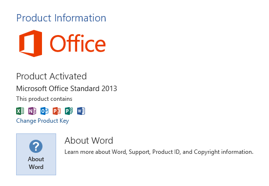 Don't have options to install Office 2013 update