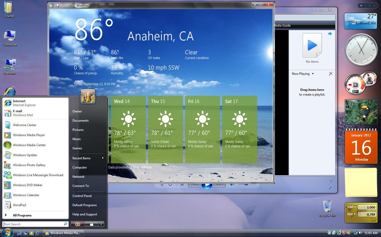 Windows Vista-based Windows 8 mock-up