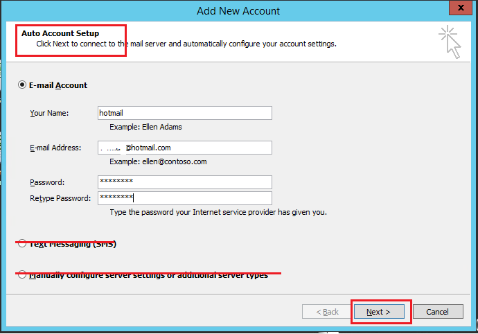 Since my hotmail account migrated to office 365 servers i - Office 365 server settings for outlook 2010 ...