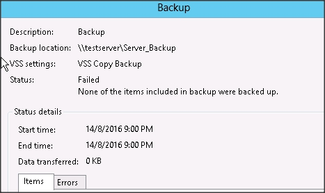 Backup – Windows and Windows Server forum