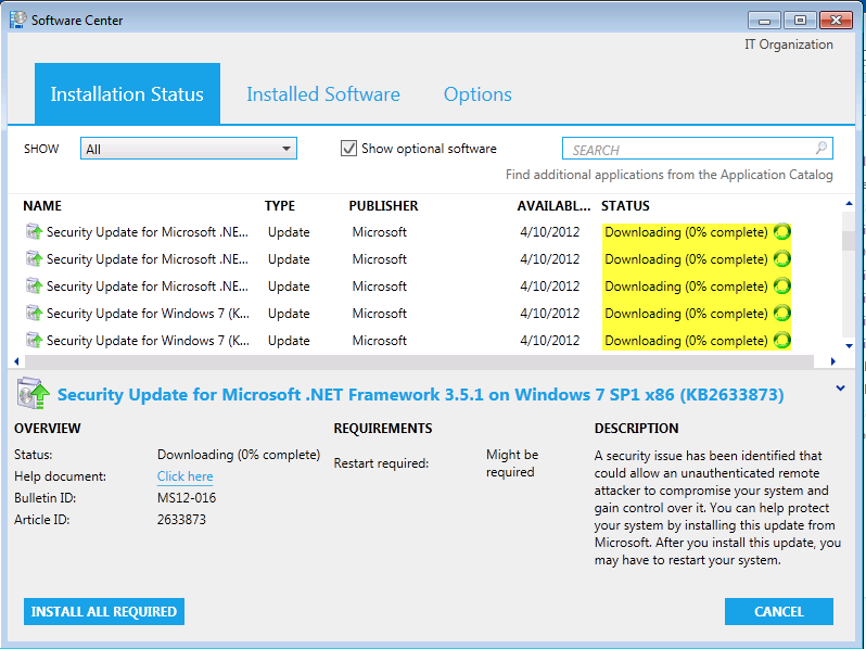 How to deploy software updates using sccm 2012 r2.