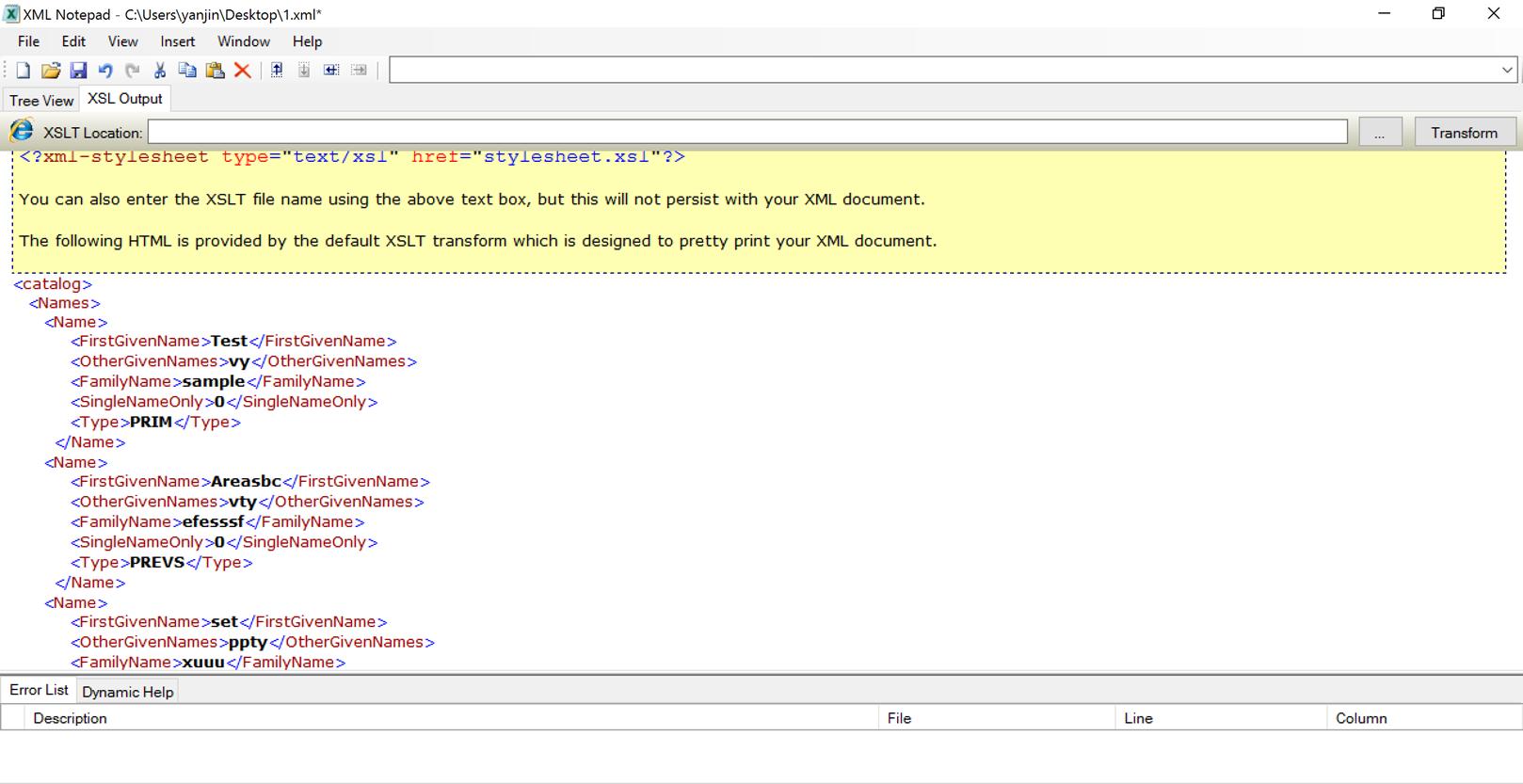 Excel XML schema Parent/child or List of List issue.