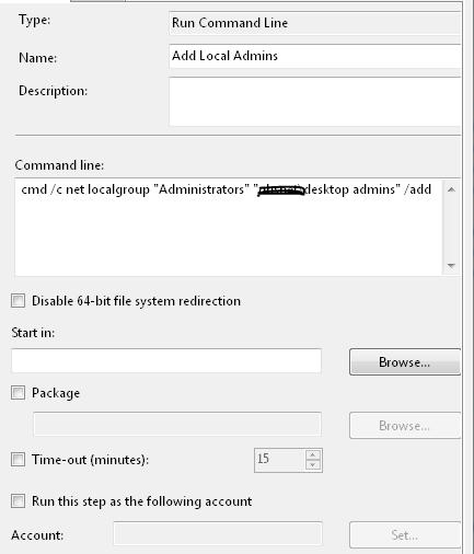 Getting Access is Denied when Running Script in OSD Task