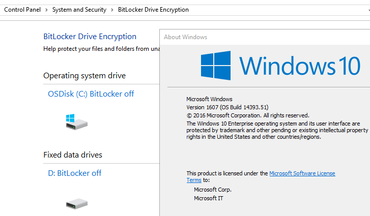 How to set up Bitlocker in Win 10 Anniversary Edition?