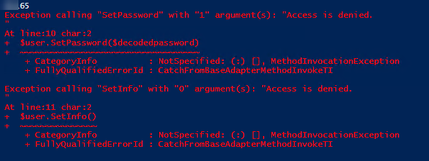 I Should Get Error About Access Denied Exactly Like Here Ran The Script Per One Computer