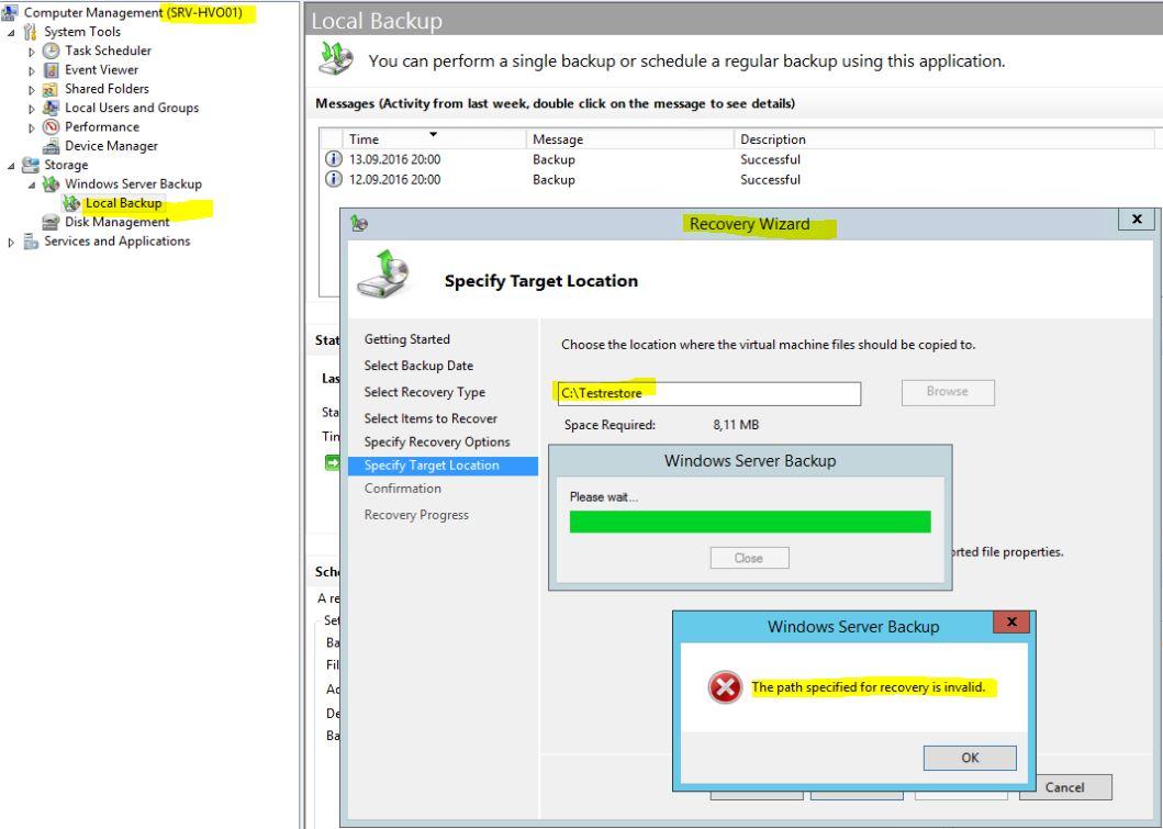 Backup – Windows and Windows Server forum