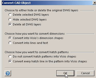i basically want to be able to have the option to edit the cad objects if they can be converted to visio - Convert To Visio