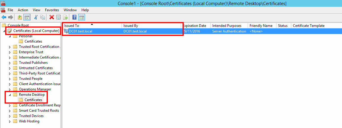 Pki rdp getting rid of self signed rdp certificate i wanted to use the default rdp certificate when connecting to the machine via rdp after following this manual opop yelopaper Images