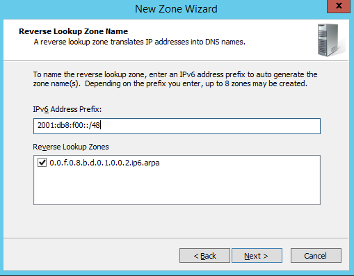 how to create reverse lookup zone