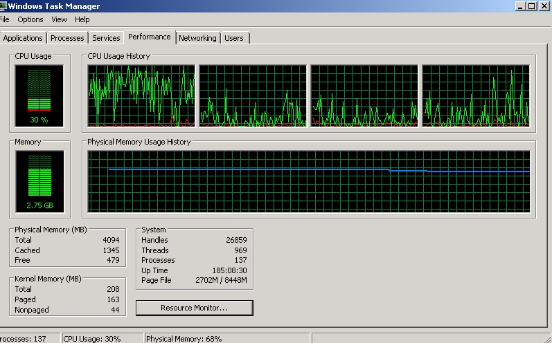 Slow Virtual Machine inside Hyper V Core