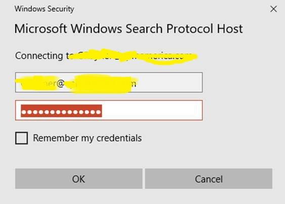 microsoft windows search protocol windows security pops up