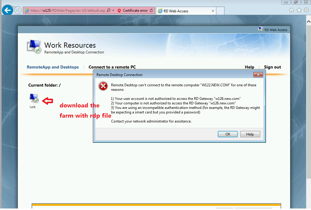 How to not allow admin accounts to logon via RD Gateway