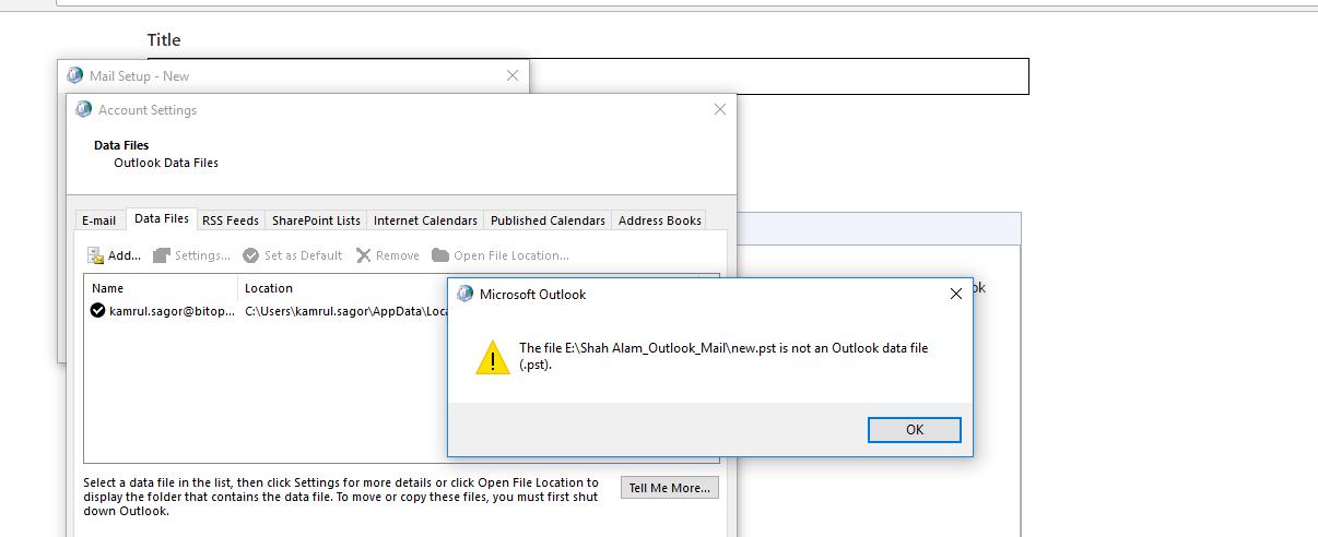 Microsoft outlook pst repair software