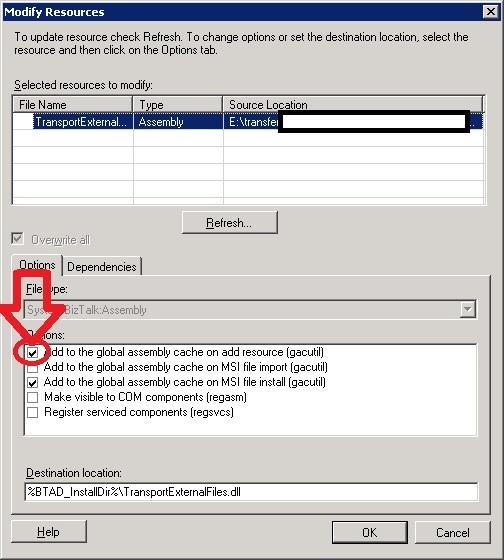 GAC: die erste Option vergessen zu klicken...