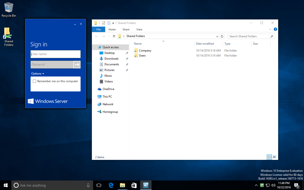 Urgent! Need to connect up Windows 10 PC to WSE-2016  Cannot