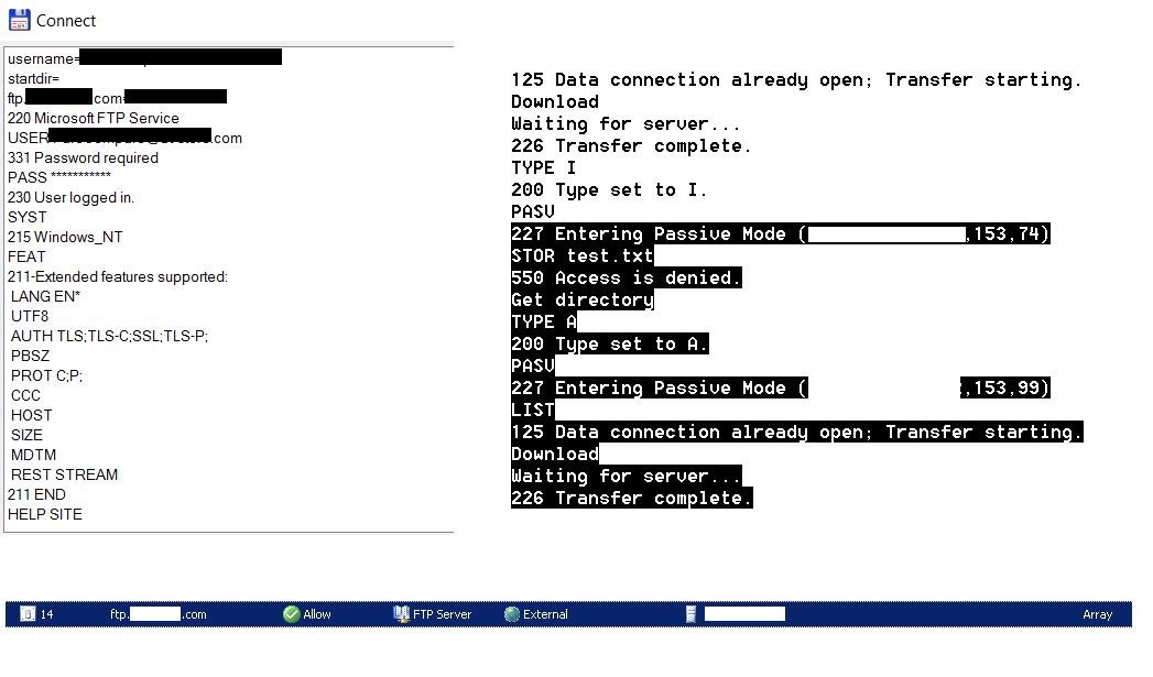 FTP Access Denied