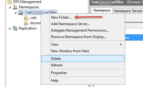New DFS folder via PowerShell