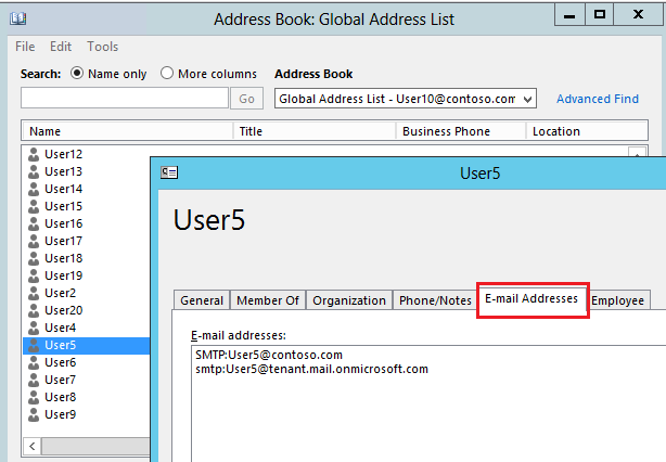 Global Address List - can it show email aliases?