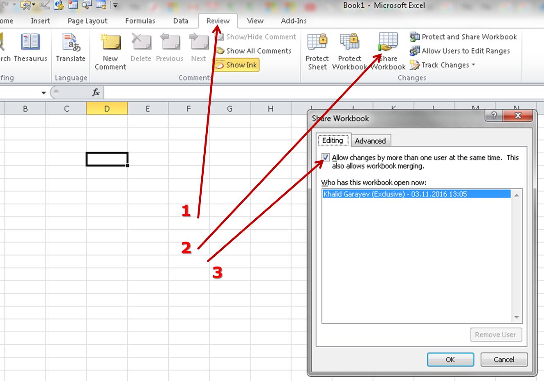 Workbooks shared workbook excel : File locked for editing