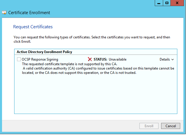 Ca error when trying to renew ocsp singing certifcate the error i got yelopaper Images
