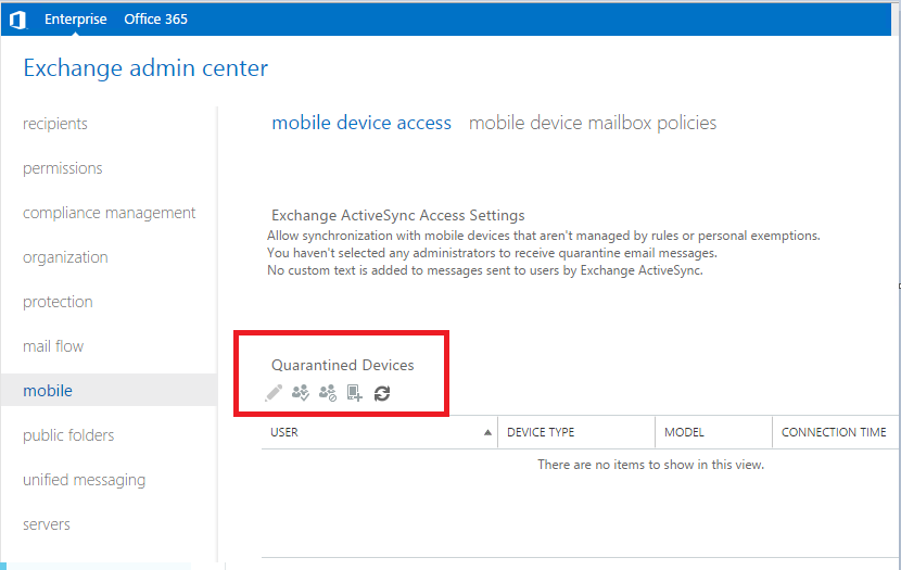 Exchange 2016 ActiveSync issue with Android/Samsung devices