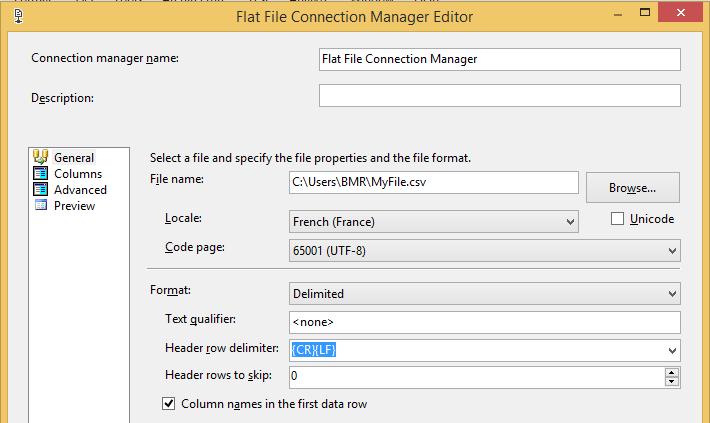 how to set csv encode utf8