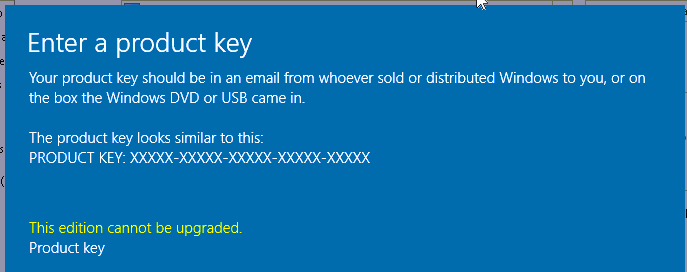 how to change windows server 2016 product key