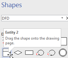 Visio 2013 pro missing gane sarson dfd style process numbering shape you are looking for please try typing dfd in the search box click more results select the shape entity 2 under data flow diagram shapes ccuart Choice Image