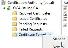 Cant create a valid web server certificate request for internal ca find the template and add the machine acct of the iis server note the added restart certificate services yelopaper Gallery