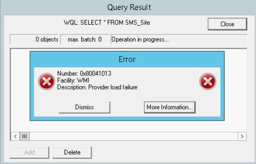 Repair WMI on Primary Site
