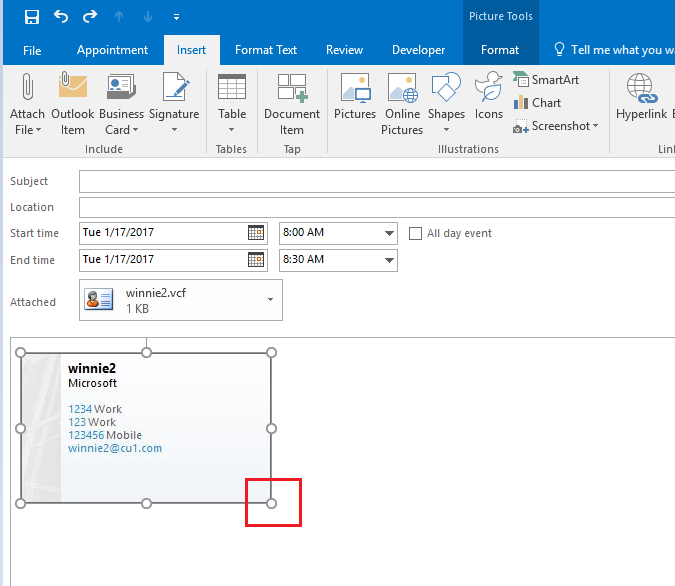 Entry Font size too small - Outlook 2016