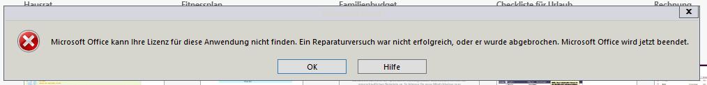 Office Konfiguration Bei Jedem Start