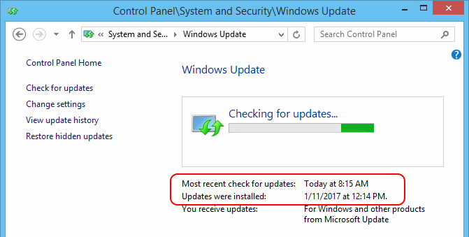 """Windows 8. 1 stuck on """"checking for updates. """" super user."""