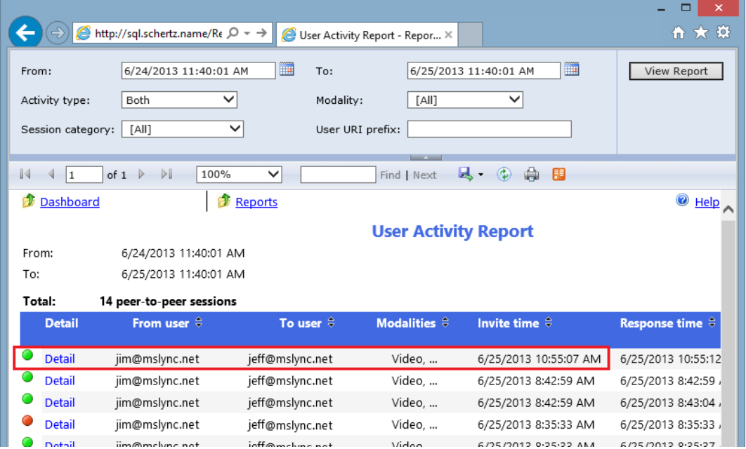 how to see call history in skype for business