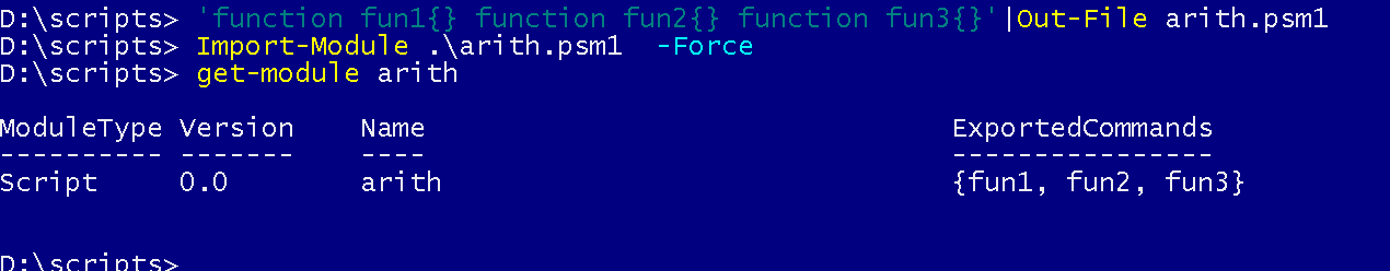 How to export functions in a powershell script using a export