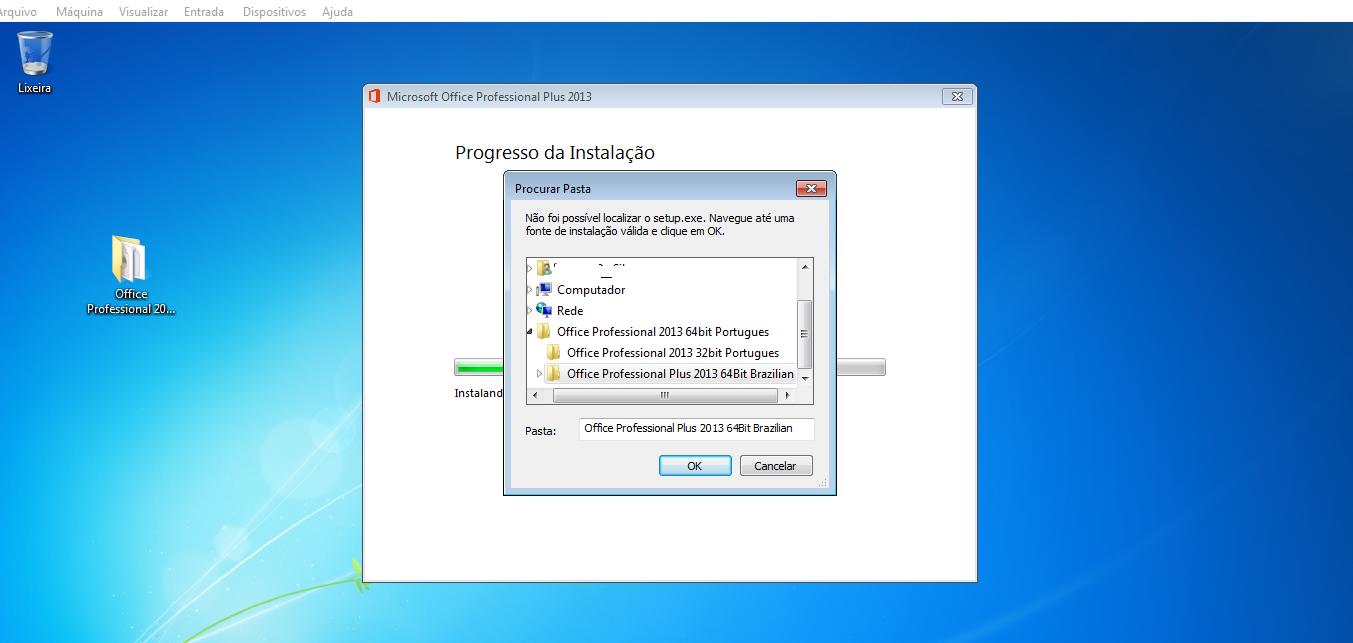 erro office 2013 64 bits