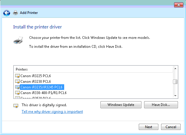 printui dll printer install driver issuesyes, adding the printer manually (and pointing to the same p62kusal inf with the \