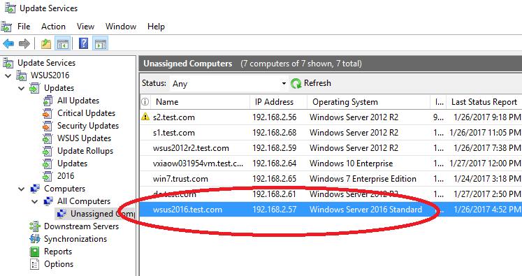 "Windows Server 2016 listed as """