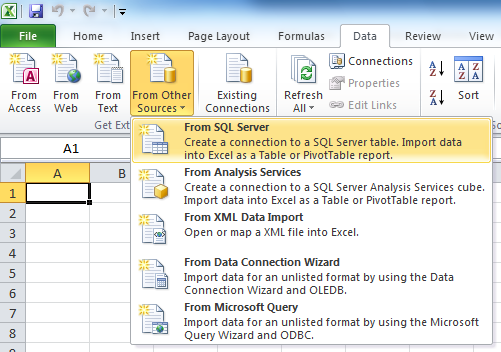 Connect Microsoft Excel to Windows Azure SQL Database - TechNet ...