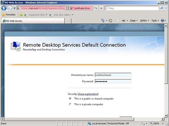 Publish a remoteapp application on remote desktop service for demonstration in figure 4 and 5 was used the remote desktop web portal access to applications the user used is a member of the access group added in ccuart Images