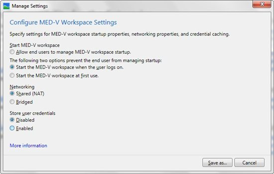 med v workspace packager