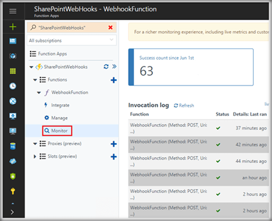 SharePoint Webhooks As Event Receivers For SharePoint Online