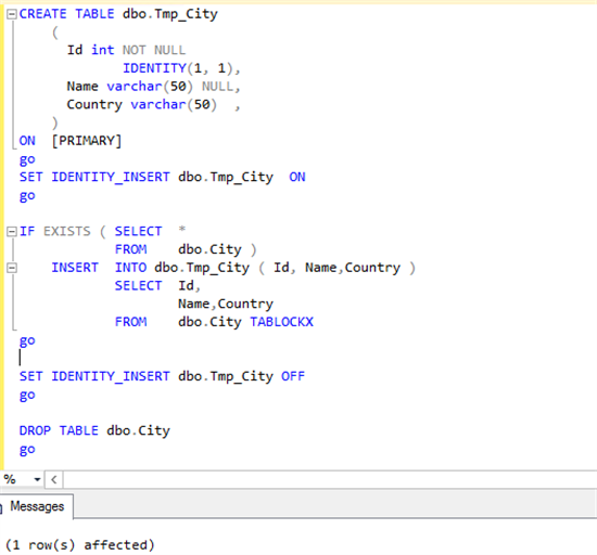 This way we the identity will be set to the column as well as the data will be preserved.  sc 1 st  Microsoft & Working with Identity Column After Table Creation in SQL Server ...