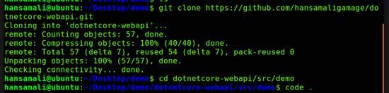 Clone your application in Ubuntu