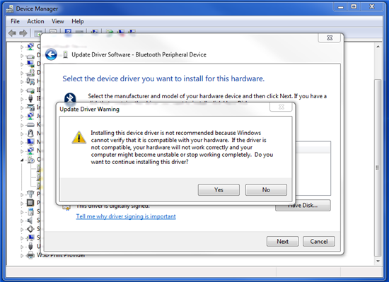 how to fix bluetooth peripheral device driver error